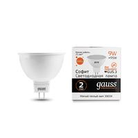 Лампа Gauss LED Elementary MR16 GU5.3 9W 640lm 3000K 13519