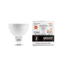 Лампа Gauss LED Elementary MR16 GU5.3 9W 640lm 3000K 13519