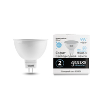 Лампа Gauss LED Elementary MR16 GU5.3 9W 680lm 6500K 13539