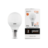 Лампа Gauss LED Elementary Шар 10W E14 710lm 3000K 53110