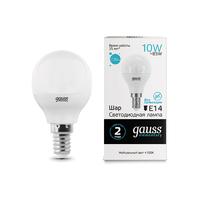 Лампа Gauss LED Elementary Шар 10W E14 730lm 4100K 53120