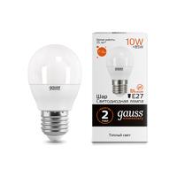 Лампа Gauss LED Elementary Шар 10W E27 710lm 3000K 53210