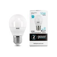 Лампа Gauss LED Elementary Шар 10W E27 730lm 4100K 53220