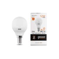 Лампа Gauss LED Elementary Шар 12W 880lm E14 3000K 53112