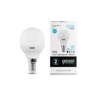 Лампа Gauss LED Elementary Шар 12W 920lm E14 4100K 53122