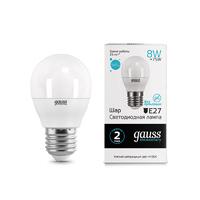 Лампа Gauss LED Elementary Шар 8W E27 520lm 3000K 53218