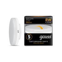 Лампа Gauss LED GX53 8W 660lm 3000K диммируемая 108408108-D