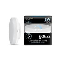 Лампа Gauss LED GX53 8W 680lm 4100K диммируемая 108408208-D