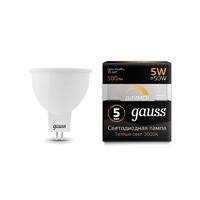 Лампа Gauss LED MR16 GU5.3-dim 5W 500lm 3000K  диммируемая 101505105-D