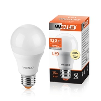 Лампа светодиодная Wolta BL60 Е27 15вт 3000К 25Y60BL15E27 теплый свет