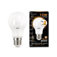 Лампа Gauss LED A60 10W E27 880lm 2700K step dimmable 102502110-S