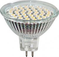 FERON лампа светодиодная MR16 GU5.3 3W прозрачная теплая LB-24 2700К