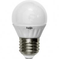 FERON шарик матовый светодиодный E-27 5W теплая LB-38 2700K