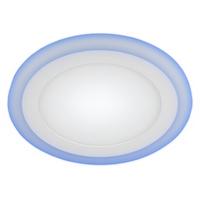 LED 3-6 BL Светильник ЭРА светодиодный круглый c cиней подсветкой LED 6W   220V 4000K