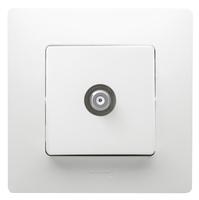 Legrand ETIKA Розетка TV проходная белая механизм 672263