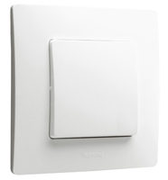 Legrand ETIKA Выключатель 1кл. белый механизм 672201