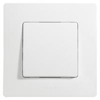 Legrand ETIKA Выключатель 1кл. прох. белый механизм 672205