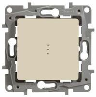 Legrand ETIKA Выключатель 1кл. прох. с подсв. крем механизм 672315