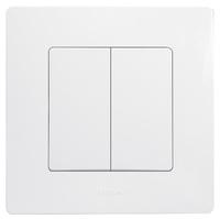 Legrand ETIKA Выключатель 2кл. белый механизм 672202