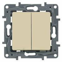 Legrand ETIKA Выключатель 2кл. прох. крем механизм 672312