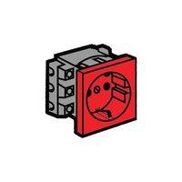 Legrand Программа Mosaic Розетка 2К+3 для монтажа на кабель-каналах с винтовыми зажимами красная 77611