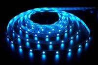 Лента светодиодная 4.8W силикон IP65 синяя 3528 60 led/m (5м)