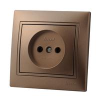 Lezard MIRA розетка б/з Светло-коричневый металлик 3131-121