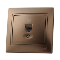 Lezard MIRA розетка Телефонная Светло-коричневый металлик 3131-137