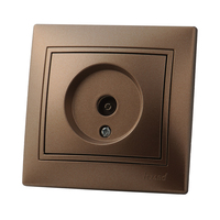 Lezard MIRA розетка Телевизионная оконечная Светло-коричневый металлик 3131-130