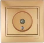 Lezard MIRA розетка Телевизионная оконечная Золото 1313-130