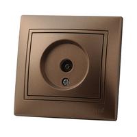 Lezard MIRA розетка Телевизионная проходная Светло-коричневый металлик 3131-129