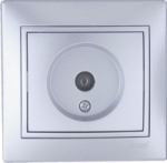 Lezard MIRA розетка ТV оконечная Серебро 1010-130
