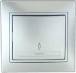 Lezard MIRA выключатель 1 кл. проходной Серебро 1010-105
