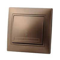 Lezard MIRA выключатель 1 кл. проходной Светло-коричневый металлик 3131-105