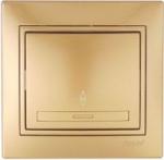 Lezard MIRA выключатель 1 кл. проходной Золото 1313-105