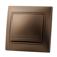Lezard MIRA выключатель 1 кл. Светло-коричневый металлик 3131-100