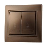 Lezard MIRA выключатель 2 кл. проходной Светло-коричневый металлик 3131-106