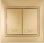 Lezard MIRA выключатель 2 кл. проходной Золот 1313-106