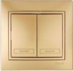 Lezard MIRA выключатель 2 кл. Золото 1313-101