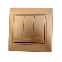 Lezard MIRA выключатель 3 кл. Золото 1313-109