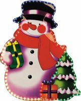 """LT017 световая фигура """"снеговик"""", 3м  лапмы мульти, 36 ламп/1м, 79*62см 26715"""