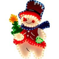 """LT019 световая фигура """"снеговик"""", 4м лапмы мульти, 36 ламп/1м, 45*67см 26717"""