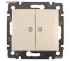 Legrand Valena Выключатель 2-х кл. с подсветкой кремовый Легранд Валена 774328