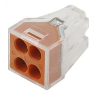 Монтажная клемма СМК модель 104, 4 отверстия 1.0-2.5мм NO-222-19