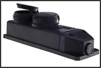 Mutlusan колодка 2-я герм. с заземлением каучук чёрная MUT-292