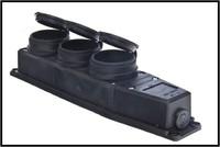 Mutlusan Колодка 3-я герм. с заземлением каучук черная MUT-293
