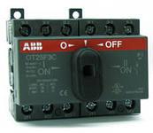 ABB Реверсивный рубильник (перекидной) OT25F3C 25A 1SCA104863R1001