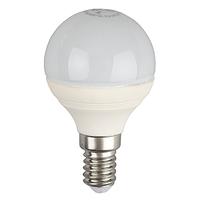 ЭРА лампа светодиодная шарик Р45 5W Е-14 теплый 827