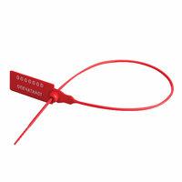 Пломба пластиковая номерная 220 мм красная