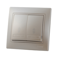 Lezard MIRA выключатель 2 кл. проходной Жемчужно-белый металик 3030-106